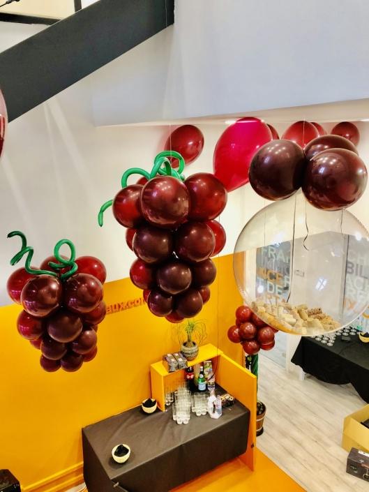 grappe de raisins ballons