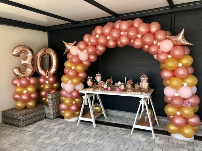 arche de ballon rose