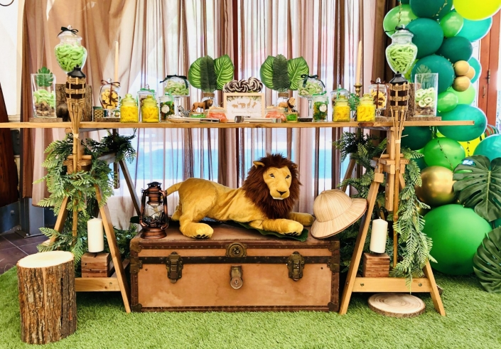 anniversaire theme jungle