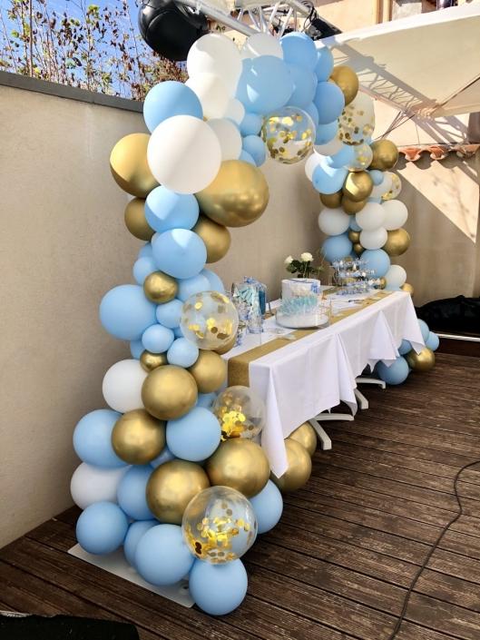 arche ballon bleu ciel