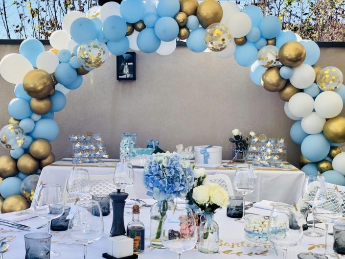 arche ballon bleu
