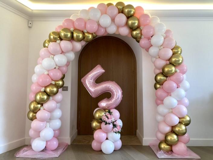 arche de ballon princesse