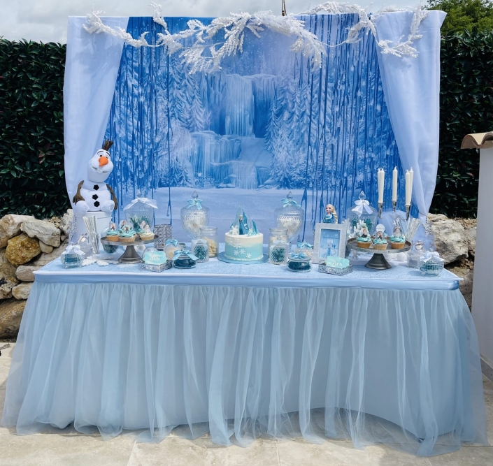 sweet table reine des neiges